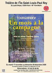 affiche Un mois à la campagnie de Tourgueniev