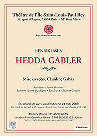 Affiche Hedda Gabler de H. Ibsen